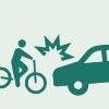 自転車と四輪車の事故
