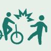 歩行者と自転車の事故